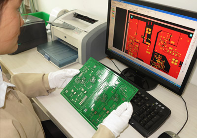 Printed circuit board comparison with layout files to assure completeness