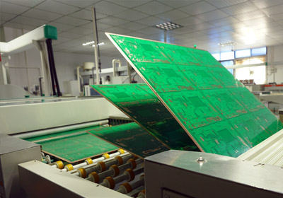 pcb production large volume from asiaprinted circuit board loader is feeding panels into a horizontal line